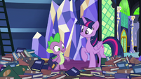 "Spike ""looking for a good bedtime story"" S8E24"