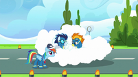 Spitfire and Soarin saved by a cloud S9E26