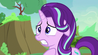 Starlight Glimmer looking very worried S7E17