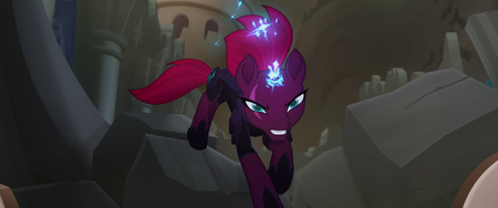 Tempest Shadow charging at the Storm King MLPTM