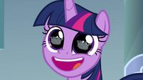 Twilight Sparkle in wide-eyed awe S9E4