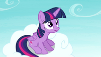 Twilight surprised by Rainbow's ability S4E21