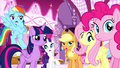 """Applejack, Rainbow, and Rarity """"we know!"""" S5E13.png"""