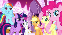 "Applejack, Rainbow, and Rarity ""we know!"" S5E13"