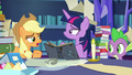 "Applejack ""for three days straight now"" S7E25.png"