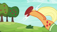 Applejack bucking the softball S6E18