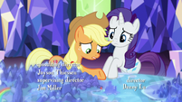 Applejack wonders why the map is calling her S5E16