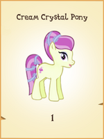 Cream Crystal Pony MLP Gameloft