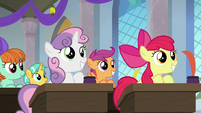 Cutie Mark Crusaders in Twilight's class S8E12