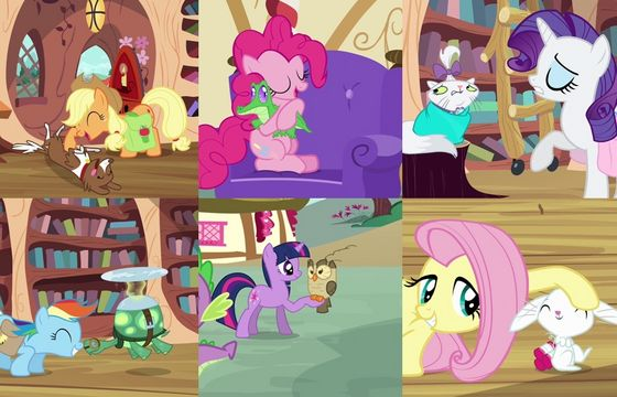 Image - FANMADE Main 6 with pets.jpg   My Little Pony ...