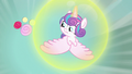 Flurry Heart flying away from cupcakes S7E3.png
