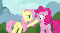 "Fluttershy and Pinkie Pie ""don't want to startle them"" S4E16"