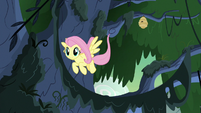 Fluttershy flying back to the ground S7E25