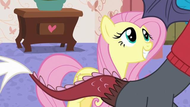 File:Fluttershy grinning excitedly at Discord S7E12.png
