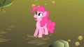 Pinkie Pie looks at the Hydra coming out of the swamp S1E15.png