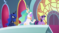 "Princess Celestia ""explain what happened"" S8E2"