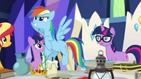 Rainbow Dash itching to be a hero EGSB