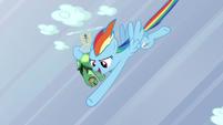Rainbow punches a cloud S5E5