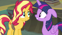 Sunset and Twilight look at each other surprised EGFF