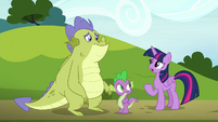 "Twilight ""you crashed in Ponyville"" S8E24"