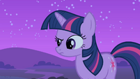 Twilight raises an eyebrow S1E24