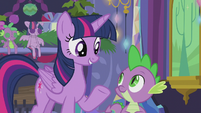 Twilight recalls her and Spike's first Hearth's Warming Eve S5E20