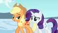 Applejack and Rarity after leaving the Crystal Empire S3E2.png