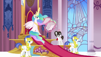 Celestia and the guards hear something S3E01