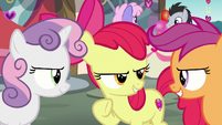 Cutie Mark Crusaders looking determined S8E10