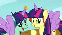 Fan ponies wearing Twilight Sparkle costumes S7E22