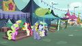 Flower trio selling flowers to the last pony S7E19.png