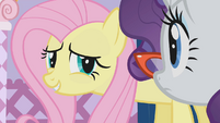 Fluttershy awkward smile S1E14