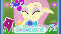 Fluttershy takes selfie with virtual animals EGDS44