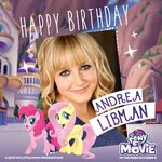MLP The Movie 'Happy Birthday Andrea Libman' promotional image