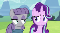 Maud Pie and Starlight looking sneaky S7E4
