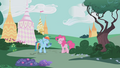 Pinkie and RD laughing at Rarity S1E05.png