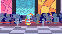 Rainbow Dash alone at the Gala S1E26