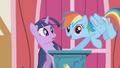 Rainbow Dash interrupts Twilight's speech S1E04.png