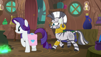Rarity walking away from Zecora S8E11
