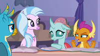 Smolder angrily making air quotes S8E22