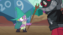 Spike appears as Garbunkle the wizard S6E17