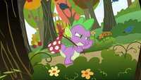 Spike walking through the forest S2E21
