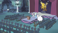 Star Gazer and Eclair Creme approaching the podium S4E18
