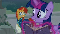 Sunburst and Twilight pleased by their discovery S7E25