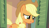 "Applejack ""maybe leave for an hour"" S6E10"