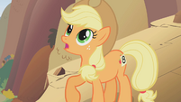 Applejack confused on how she got ontop of a mountain S1E13