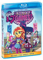 Equestria Girls Friendship Games Blu-ray cover sideview