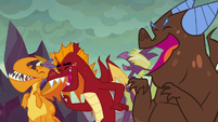 Garble and his friends laugh at Spike S9E9