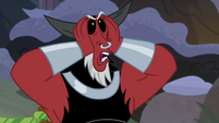Lord Tirek squishing his face S9E8