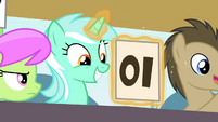 Lyra giving a 10 backwards S4E20